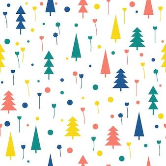 Forêt abstraite sans soudure de fond. couverture géométrique d'application simple enfantine pour carte de conception, papier peint, album, album, papier d'emballage de vacances, tissu textile, impression de sac, t-shirt, etc.