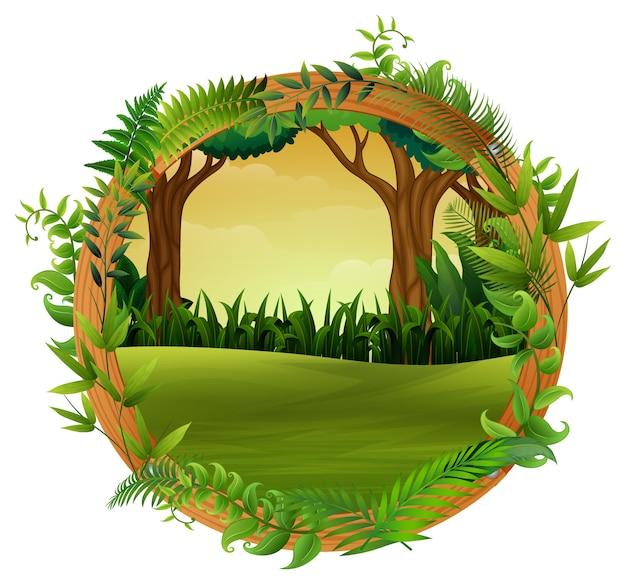 La forêt en cercle de bois