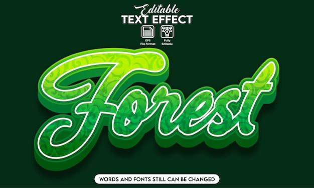 Forêt d'effets de texte modifiable