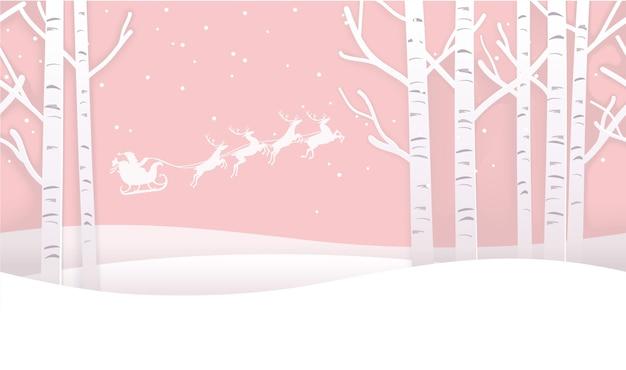 Forêt d'hiver de noël sans soudure de vecteur