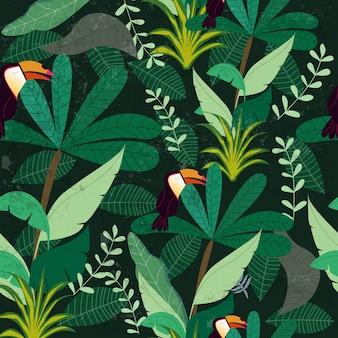 Forêt tropicale de jungle botanique