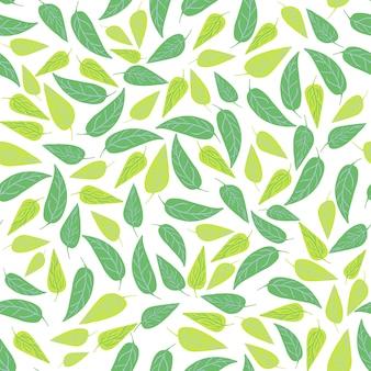 Forêt verte laisse modèle sans couture. conception botanique pour le tissu