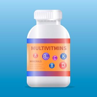 Forfait complexe de vitamines réaliste