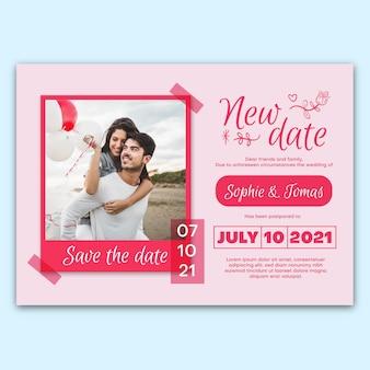 Format de carte de mariage reporté