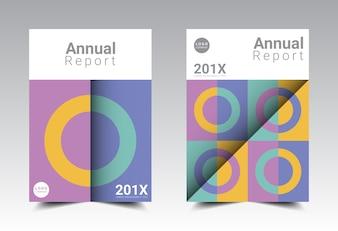 Format de modèle de mise en page de rapport annuel A4.