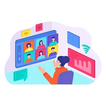 Formation de mentorat en ligne, apprentissage à plat de la communication web