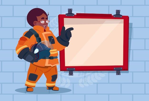 Formation de pompier afro-américaine