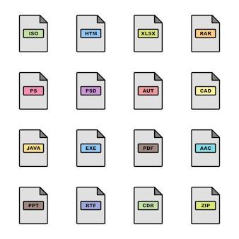 Formats de fichiers icons set