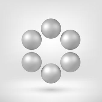 Forme 3d Abstraite Blanche Vecteur Premium