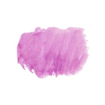 Forme abstraite à l'aquarelle rose