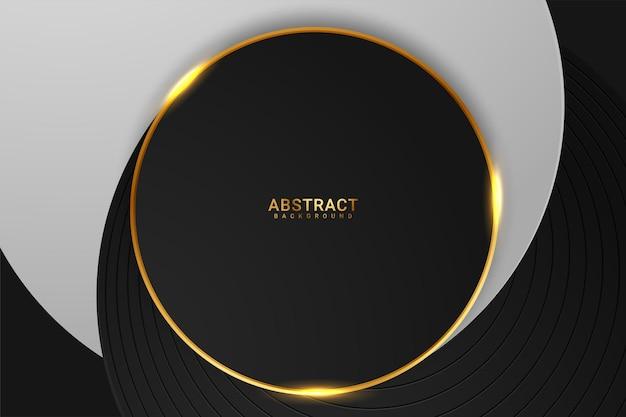Forme abstraite de fond de luxe de couleur sombre et dorée