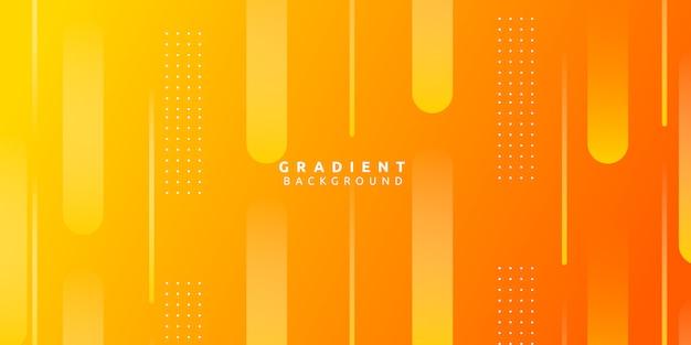 Forme abstraite jaune avec fond dégradé coloré