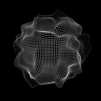Forme abstraite de particules d'espace