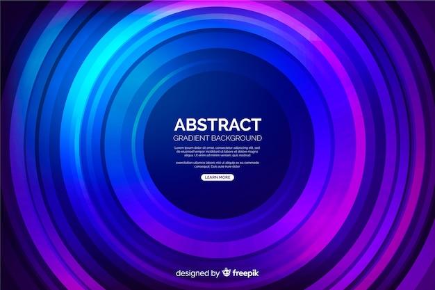 Forme abstraite de vinyle de fond de cercles colorés