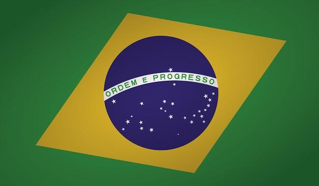 Forme d'angle de drapeau du brésil