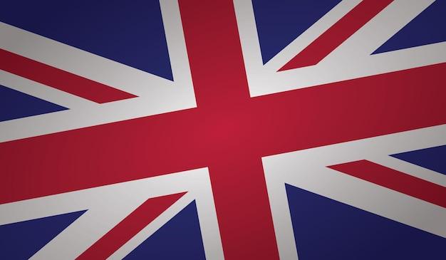 Forme d'angle du drapeau britannique
