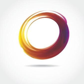Forme d'anneau coloré sur fond blanc