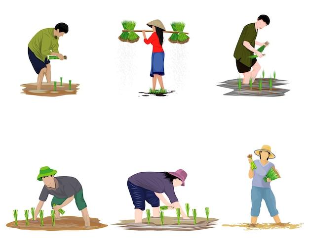 Forme de bande dessinée d'agriculteur