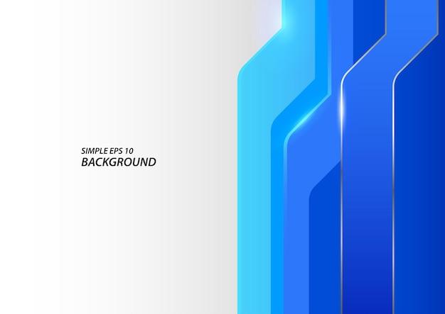 Forme bleue abstraite et fond de ligne argentée, illustration vectorielle eps 10