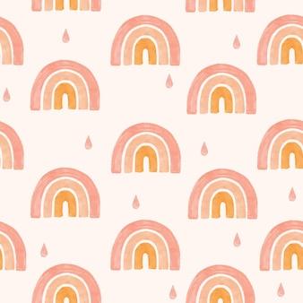 Forme de boho arc-en-ciel motif organique moderne sans couture backgraound