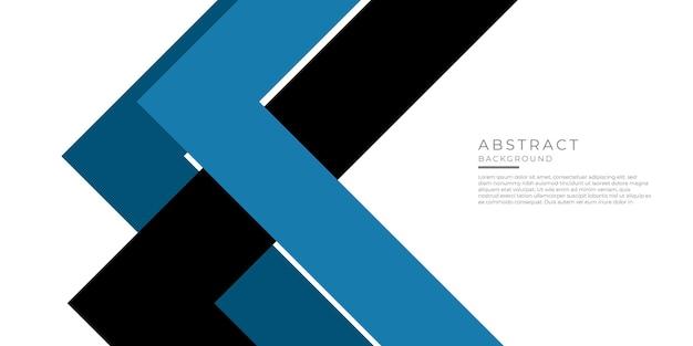 Forme carrée abstraite triangle bleu avec fond de concept futuriste