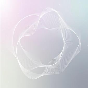 Forme de cercle irrégulier de vecteur de technologie d'assistant virtuel en blanc