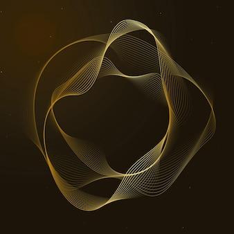 Forme de cercle irrégulier de vecteur de technologie d'assistant virtuel en or