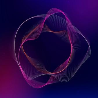 Forme de cercle irrégulier de vecteur de technologie d'assistant virtuel en rose