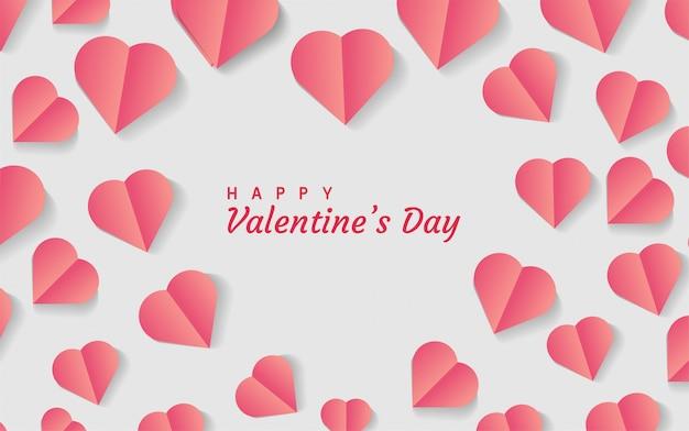 Forme de coeur romantique moderne de fond de saint valentin.