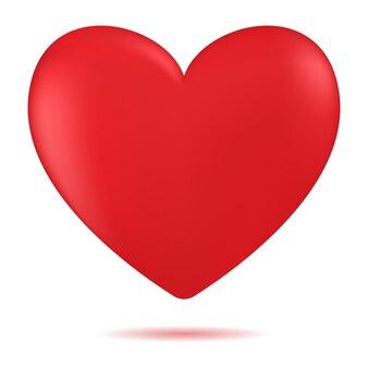 Forme de coeur. valentin romantique