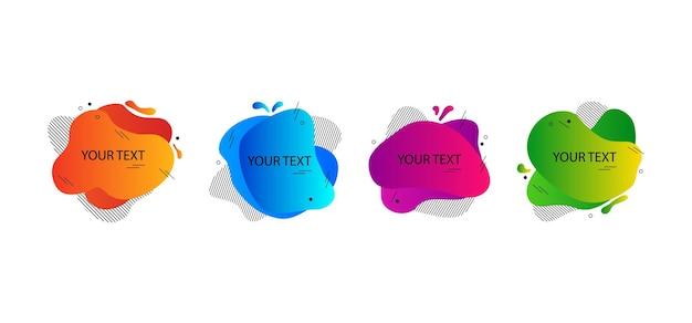 Forme colorée bloc irrégulier vecteur bannière abstraite moderne bulle de discours différentes formes