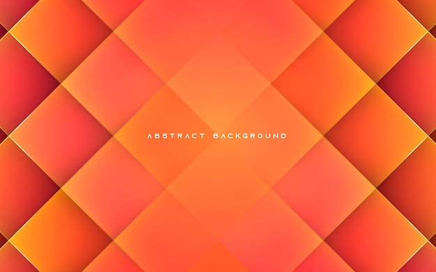 Forme diagonale abstraite fond orange
