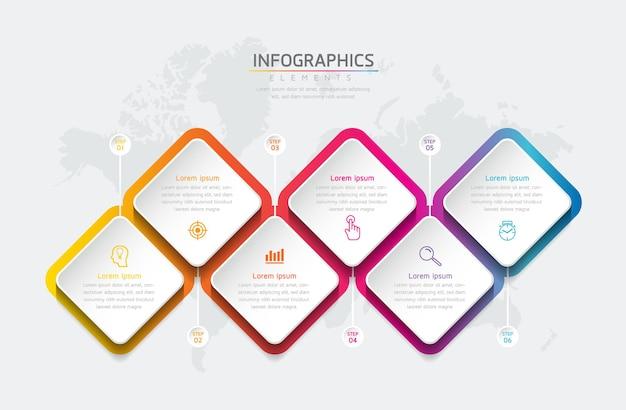 Forme de diamant d'affaires. conception de modèle infographique