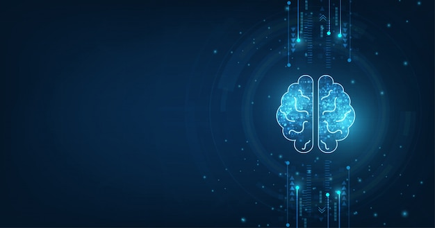Forme du cerveau humain d'une intelligence artificielle.