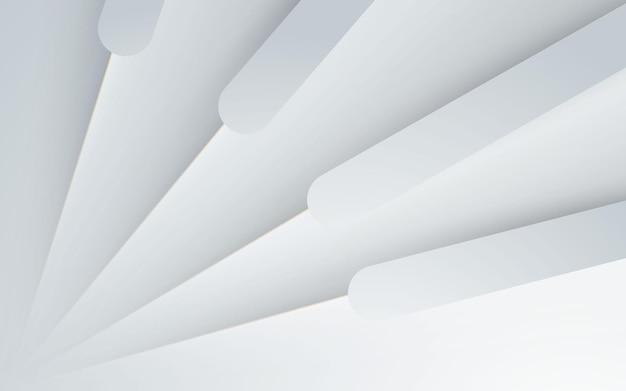 Forme dynamique de fond abstrait blanc