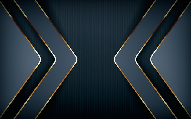 Forme de flèche moderne avec ligne dorée claire