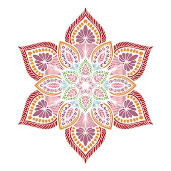 Forme de fleur de mandalas