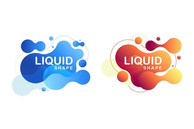 Forme fluide abstraite conception fluide