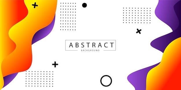 Forme fluide orange et violet abstrait propre fond moderne