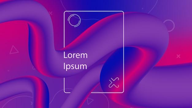 Forme de flux 3d design créatif. fond d'ondes liquides.