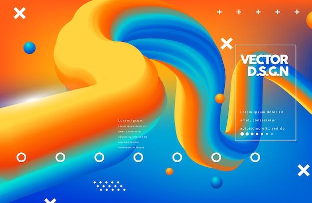Forme de flux 3d design créatif