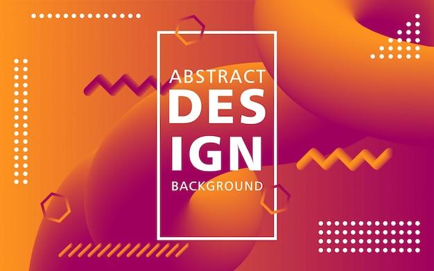 Forme de flux 3d design moderne créatif. arrière-plans orange liquid wave.