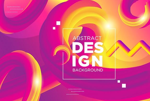 Forme de flux 3d design moderne créatif. milieux d'ondes liquides