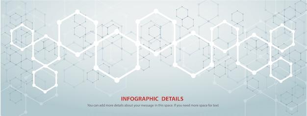 La forme de fond technologie abstraite hexagone concept design