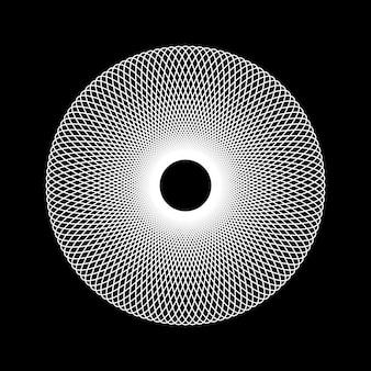 Forme fractale de technologie abstraite blanche avec fond noir pour les concepts de conception de logo et les affiches