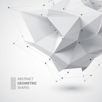 Forme de géométrie faible polygone. illustration