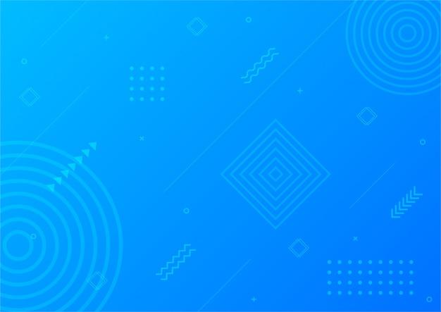 Forme géométrique abstraite bleue dégradé moderne. fond de style memphis.