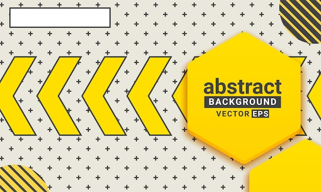 Forme géométrique abstraite jaune et noire