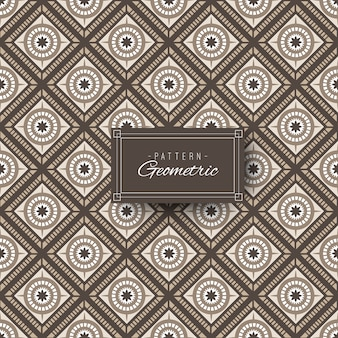 Forme Géométrique Et Florale Vecteur Premium