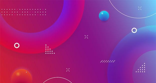 Forme géométrique futuriste abstrait design coloré fluide moderne dynamique dégradé